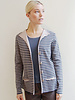 STRIPED COTTON TWIN SET: GRAY-TAUPE: JACKET + SHELL