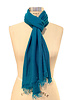 SUPERFINE CASHMERE SCARF:TURQUOISE