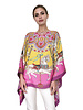 CASHMERE PRINTED PONCHO: TOY HORSES: PINK