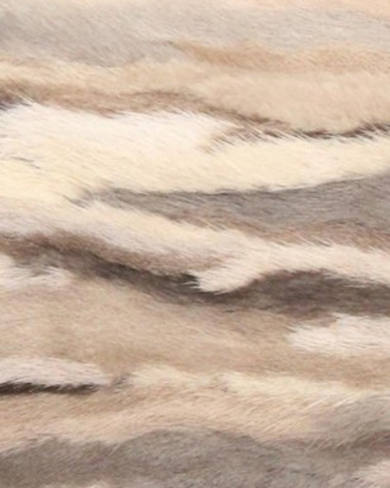 "VENEZIA MINK PILLOW: 12"" X 18"": BEIGE-BROWN"