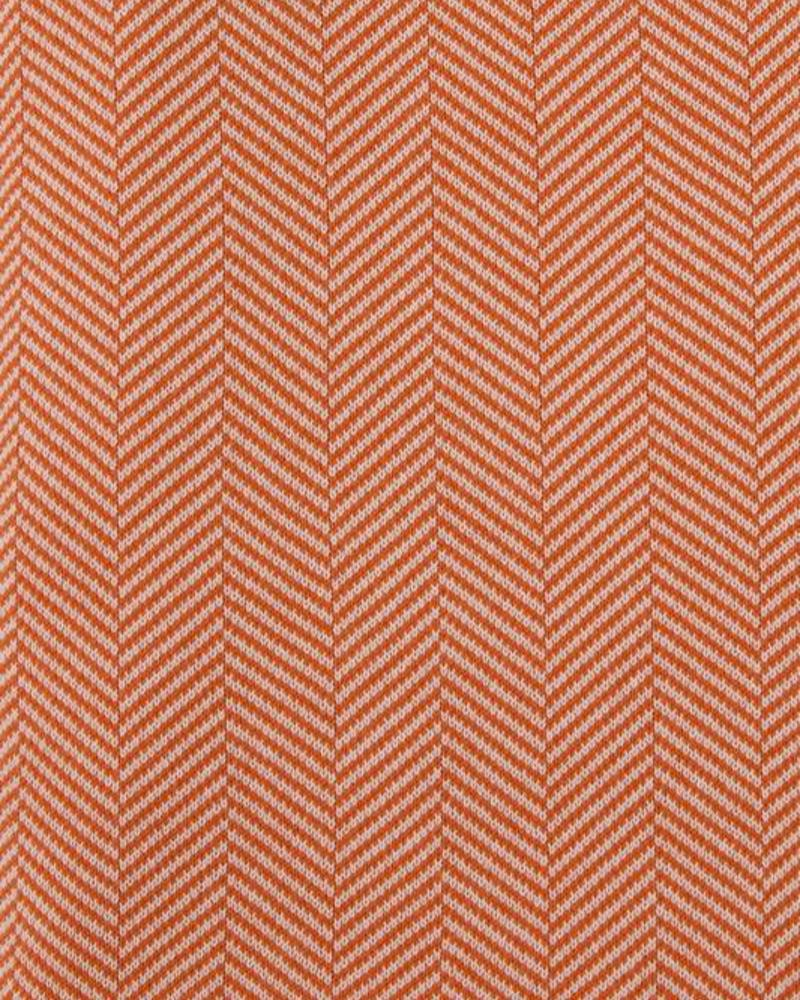 "HENRY HERRINGBONE THROW WITH BORDER: 100% COTTON: 52""X72"": ORANGE-IVORY"