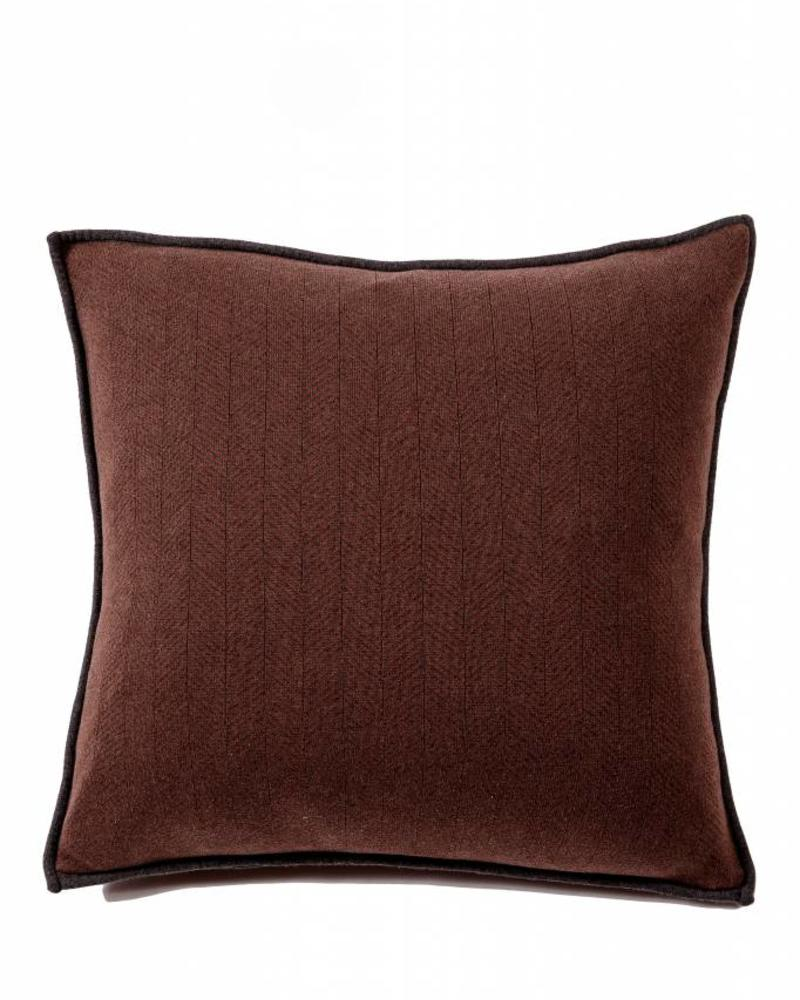 "HENRY HERRINGBONE PILLOW: 100% COTTON: 21"" X 21"": SLATE-TAB"