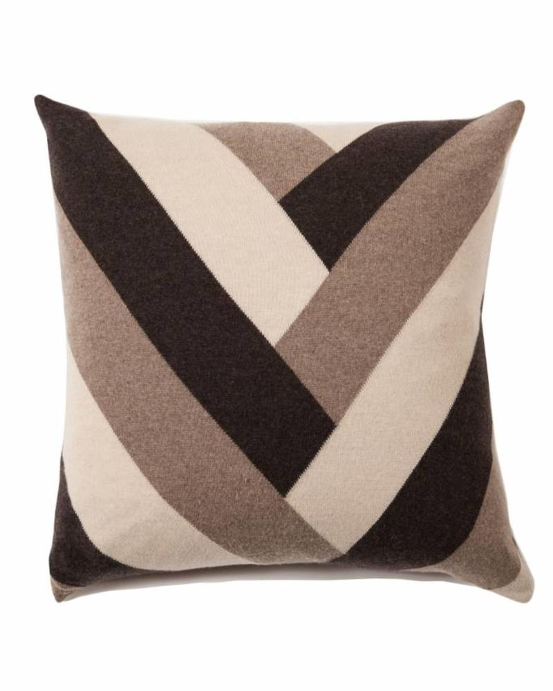 "V PILLOW: 24"" X 24"": NEUTRAL TONES"