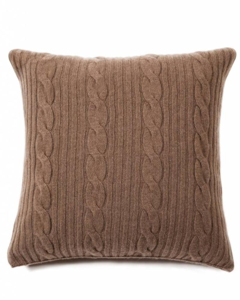 "ROMA CASHMERE PILLOW: 21"" X 21"": TAUPE"