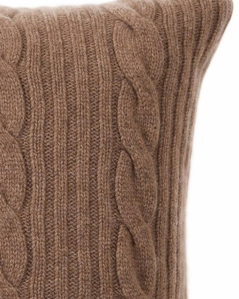 """ROMA CASHMERE PILLOW: 21"""" X 21"""": TAUPE"""