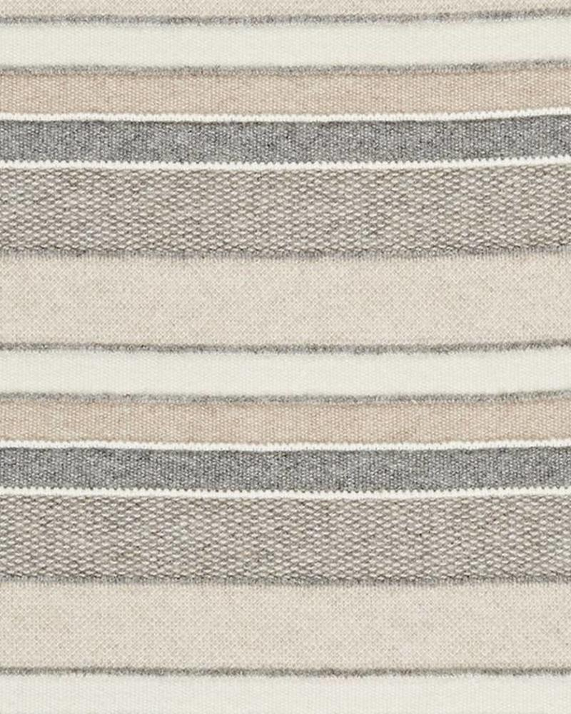 "CASHMERE KENT STRIPE JACQUARD THROW: 50"" X 72"": IVORY-BEIGE-GRAY"