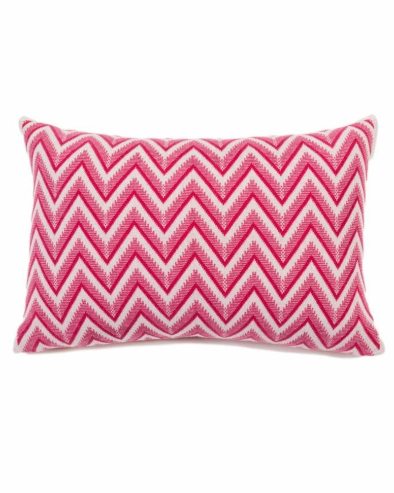 "DILLON MODERN HERRINGBONE PILLOW: 16"" X 24"": FUCHSIA"