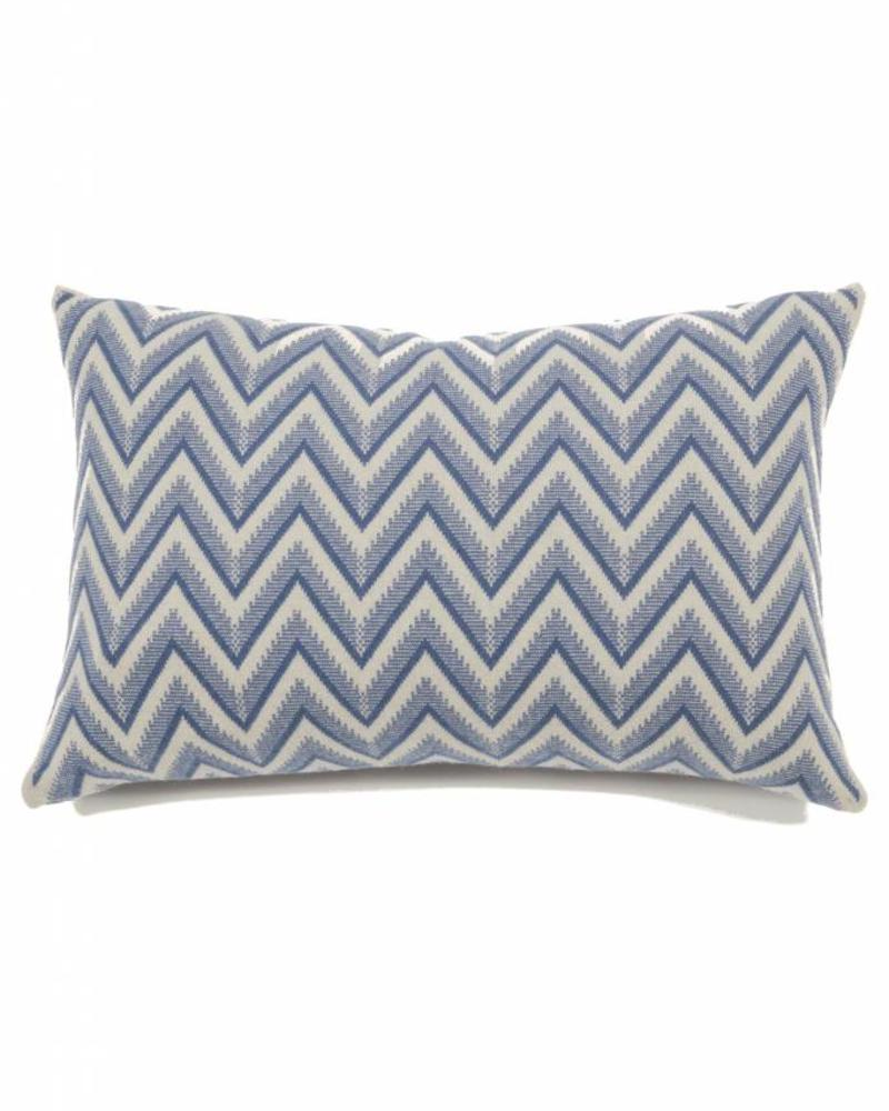 "DILLON MODERN HERRINGBONE PILLOW: 16"" X 24"": DENIM"