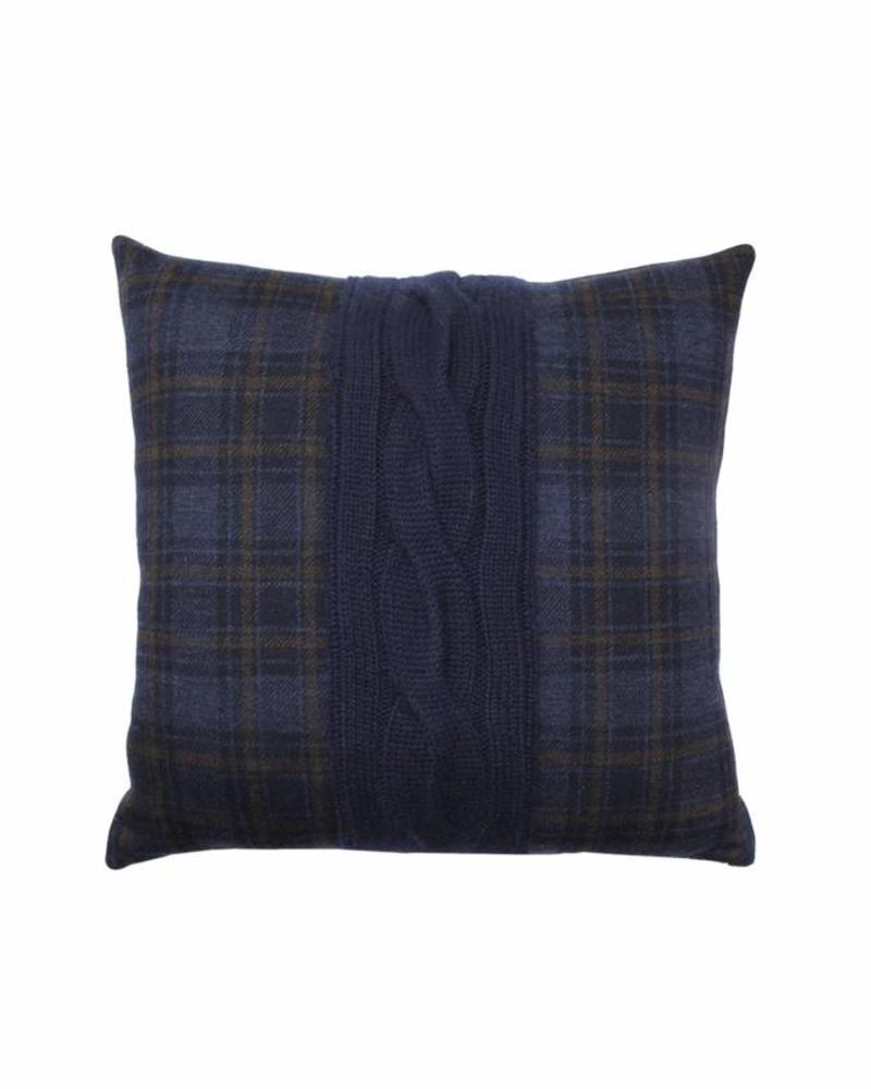 "CLARIDGES PILLOW: 18"" X 18"": NAVY-NAVY"