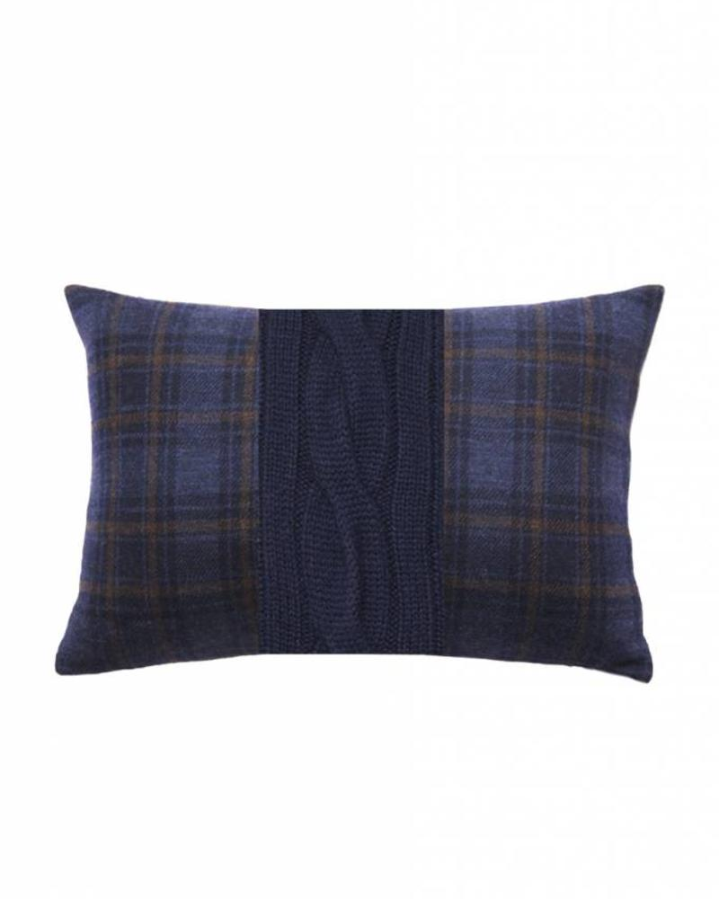 "CLARIDGES PILLOW: 12"" X 18"": NAVY-NAVY"