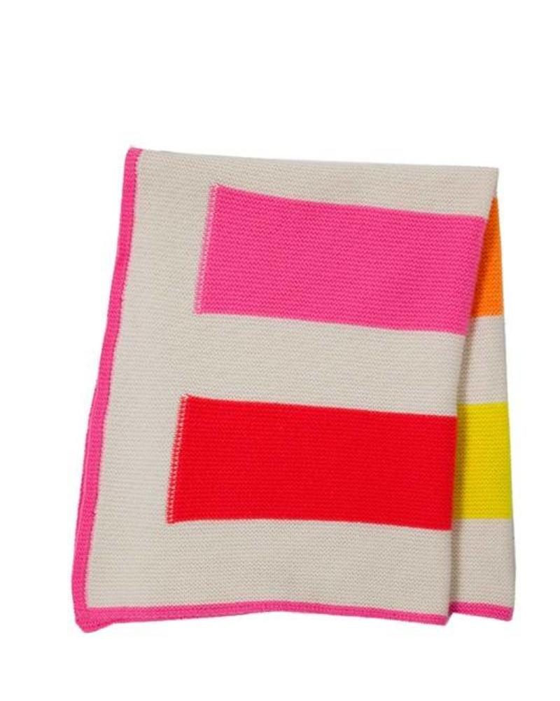 "YOYO BABY STRIPED BLANKET: 26"" X 35"": FUCHSIA"