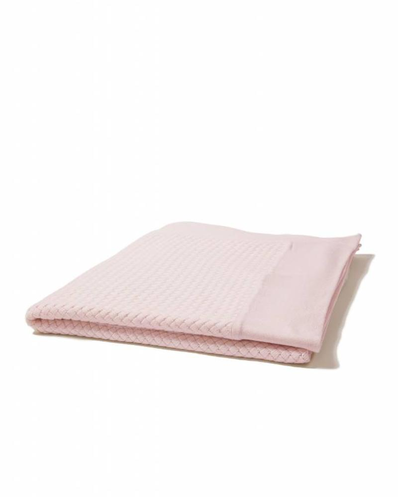 "DIAGONAL CRISS CROSS THROW: 52"" X 72"": PINK"