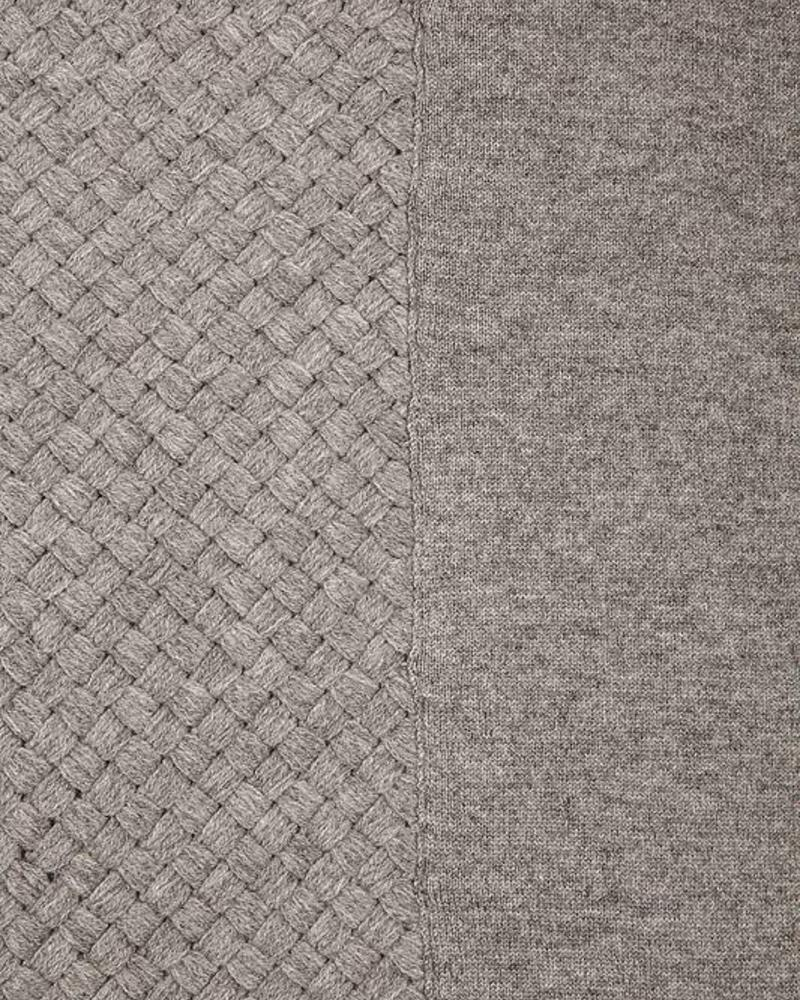 "DIAGONAL CRISS CROSS THROW: 52"" X 72"": GRAY"