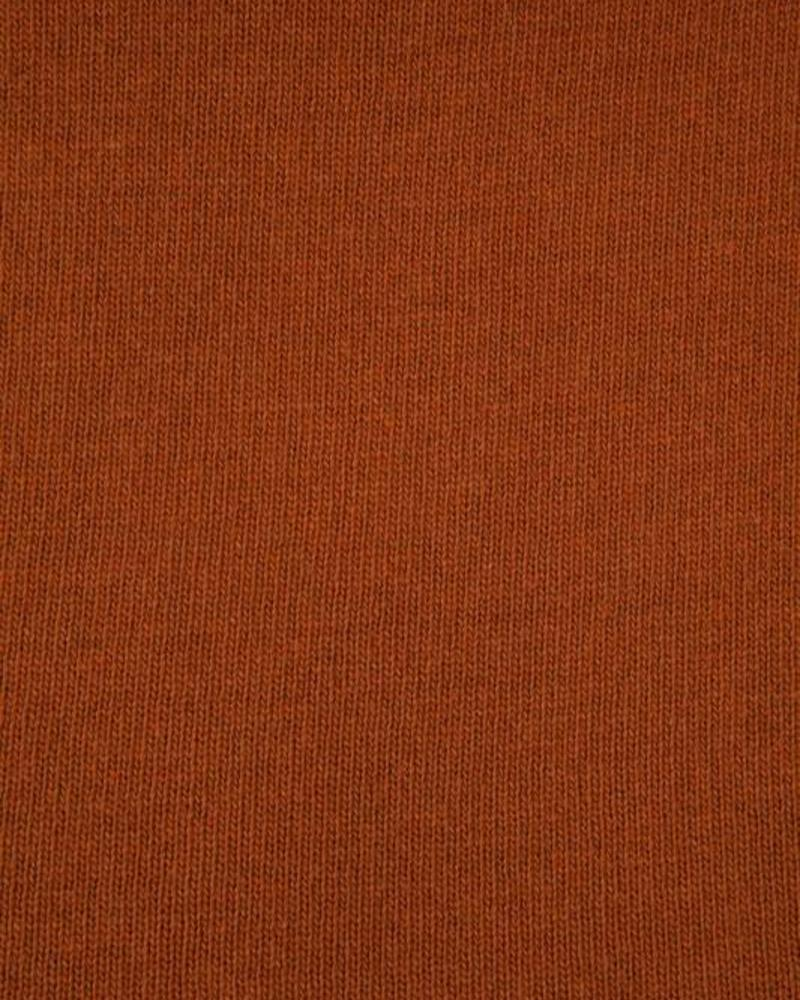 "PORTOFINO CASHMERE BLEND THROW WITH SUEDE  BORDER: 52"" X 75"": BURNT"