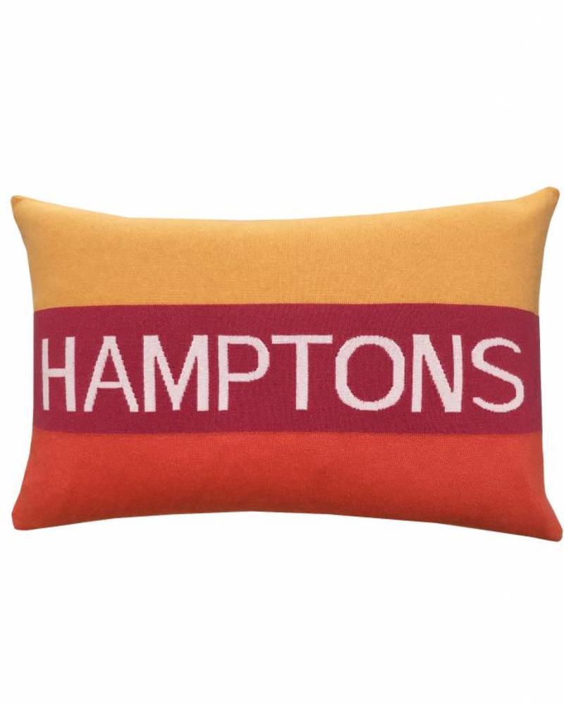 "CASHMERE HAMPTONS PILLOW: 16"" X 24"": ORANGE"