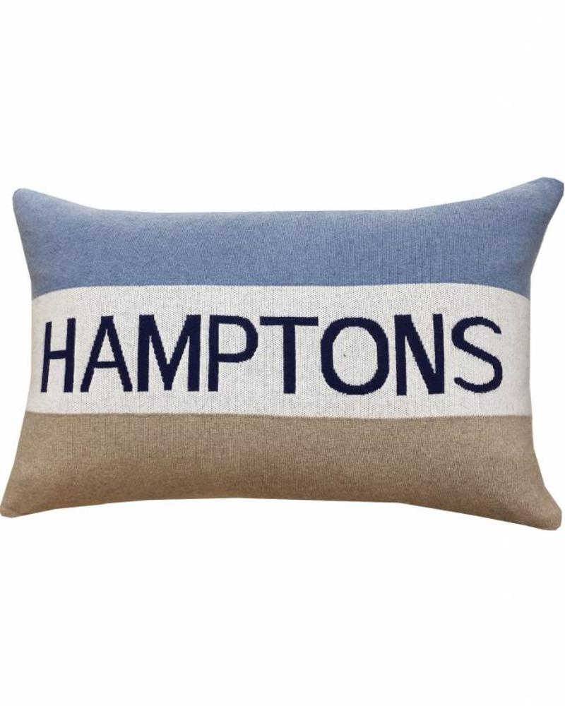 "CASHMERE HAMPTONS PILLOW: 16"" X 24"": AZURE"