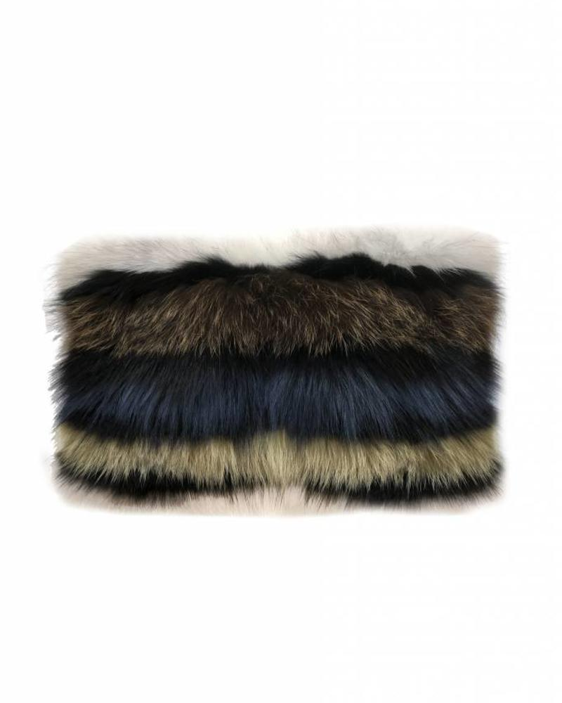 "FUR MURANO PILLOW: 12"" X 18"":MULTICOLOR"