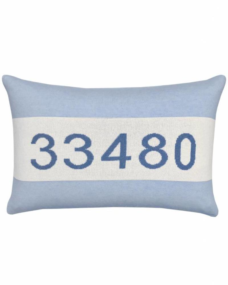 "CASHMERE PALM BEACH PILLOW: 16"" X 24"": LIGHT BLUE"
