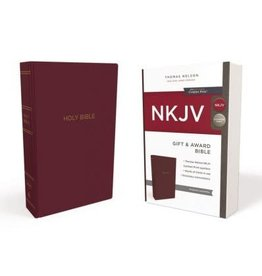 NKJV Gift and Award Bible Burgundy