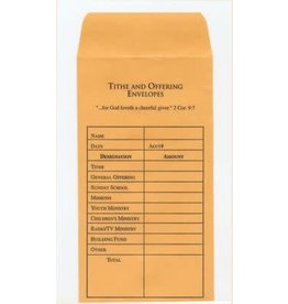 B & H Publishing Offering Envelope-Tithe & Offering (Pack Of /100)