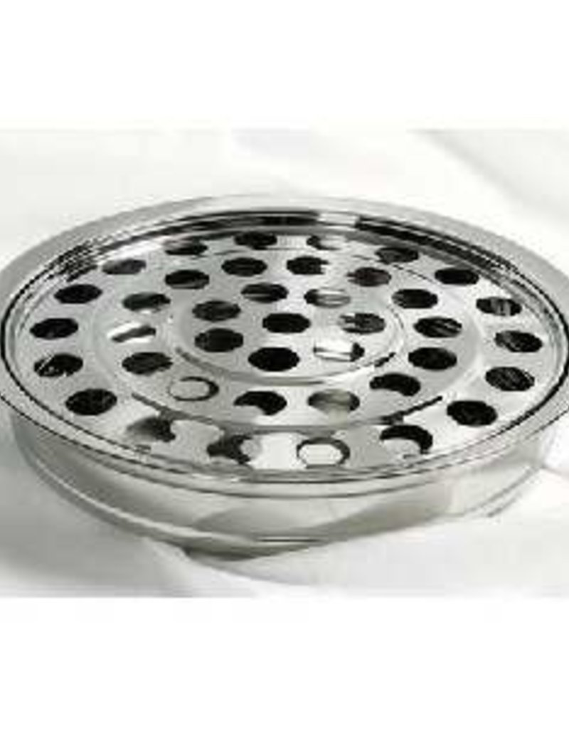 Communion-RemembranceWare-SilverTone Tray & Disc (Stainless Steel)