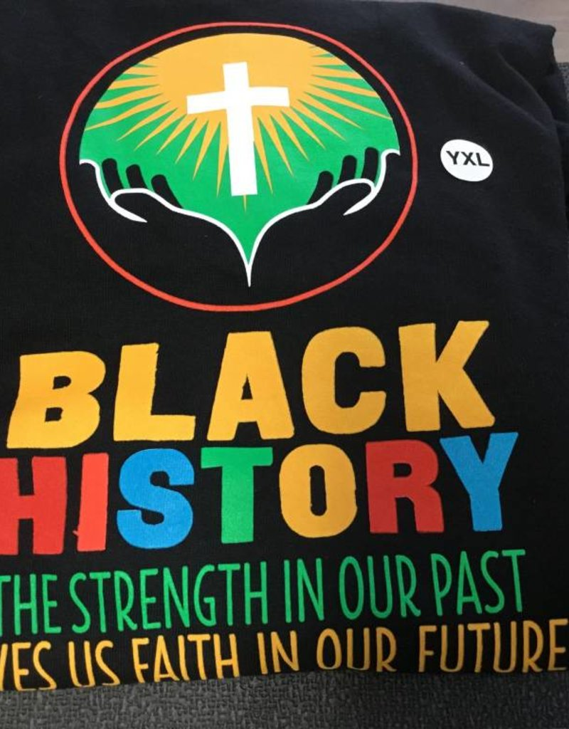 Tee Shirt Black History - YXL
