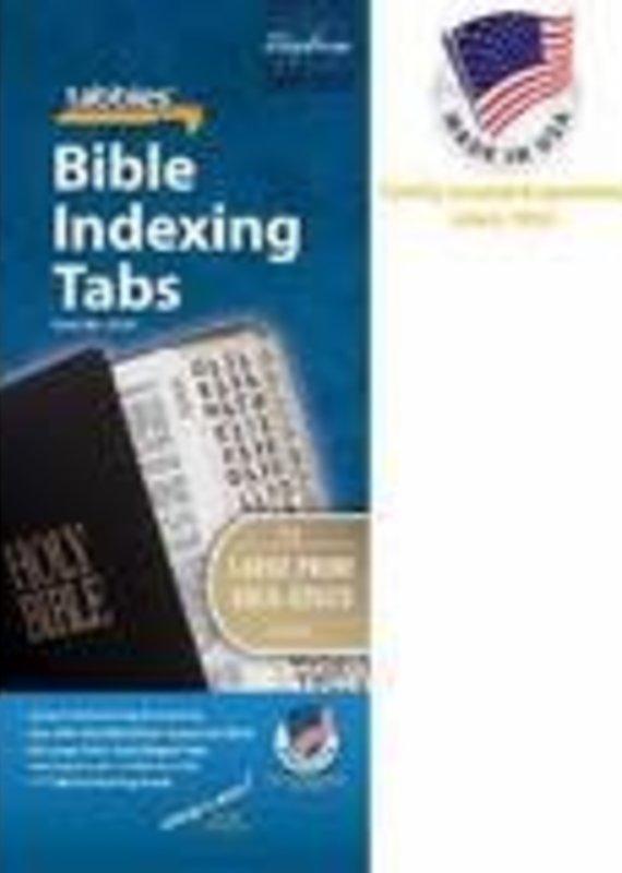 Tabbies Bible Tabs Large Print Gold Edge