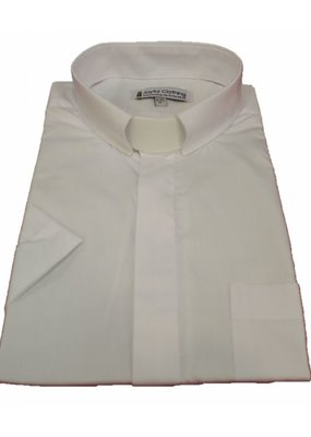 Joyful Clothing 16-16.5 Men's Short Sleeve Tab Collar White
