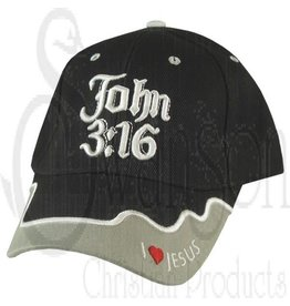 Ball Cap - John 3:16 Black