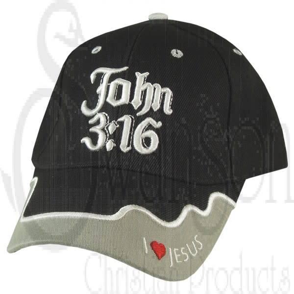 Ball Cap - John 3:16 Black