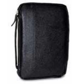 Bible Cover-Genuine Leather-Black-Large