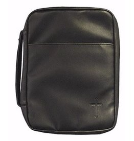 Bible Cover-Imitation Leather-Cross-X Large-Black