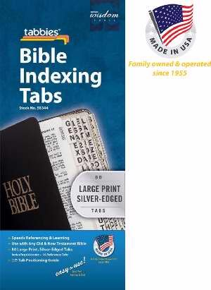 Bible Tab - Large Print O&N Testament - Silver