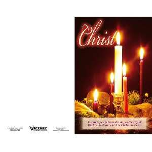 Bulletin-C-Advent Candles-Christ (Pack of 100)