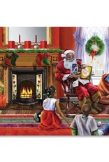African American Expressions C944 Santa's Christmas Story - Box Card