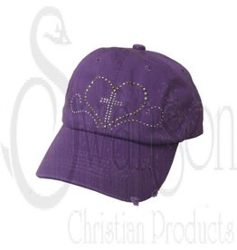 CAP PURPLE STUDDED HEART