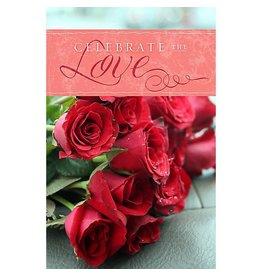 Broadman Celebrate The Love - Bulletin (Pkg 100) Valentine's Day