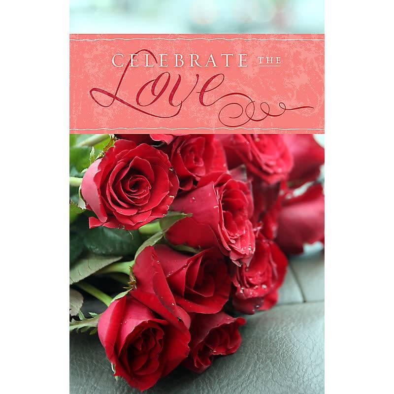 Celebrate The Love - Bulletin (Pkg 100) Valentine's Day