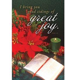 "Church Bulletin 11"" - Christmas-Advent - Great Joy (Pack of 100)"