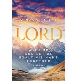 """Church Bulletin 11"""" - Inspirational Worship - Magnify the Lord (Pack of 100)"""