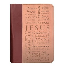 DUO-TONE NAMES OF JESUS LG BOOK AND BIBLE COVER