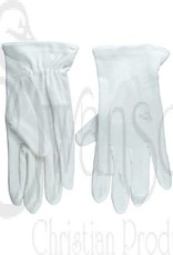 Gloves-Usher Solid White Cotton-XXL