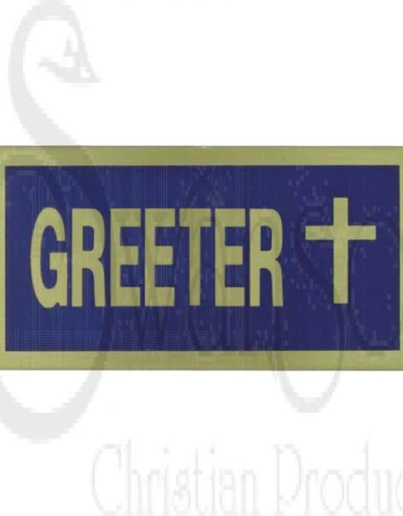 GREETER BLUE/GOLD BADGE