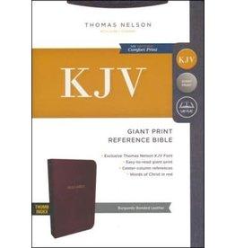 KJV Reference Bible, Giant Print, Burgundy Bonded Leather, Indexed