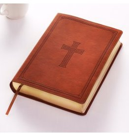 KJV Super Giant Print Bible-Tan LuxLeather
