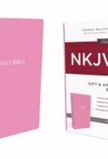 NKJV Gift & Award Bible (Comfort Print)-Pink Leatherflex