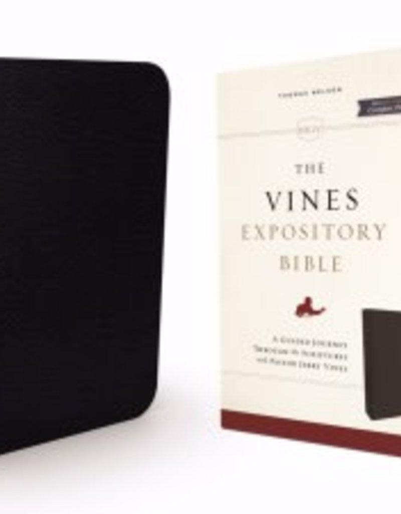 NKJV, Vines Expository Bible, Bonded Leather, Black