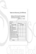 OFFERING ENVELOPE SOBRE DE DIEZMOS Y DE OFRENDA GOLDENROD 100 CT.