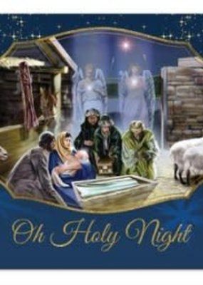 African American Expressions Oh Holy Night Nativity - Box Card