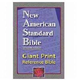 NASB Giant Print Reference Bible-Burgundy Leathertex